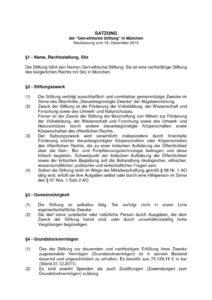 thumbnail of Satzung der gen-ethischen Stiftung